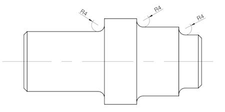 technologiczność wałka - promienie przejścia średnic