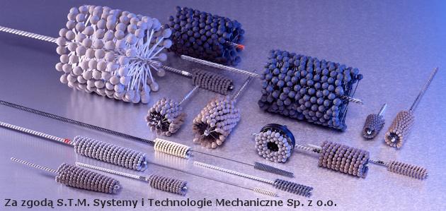 Honowanie - przykładowe konstrukcje szczotek i krążka do obróbki tą metodą.