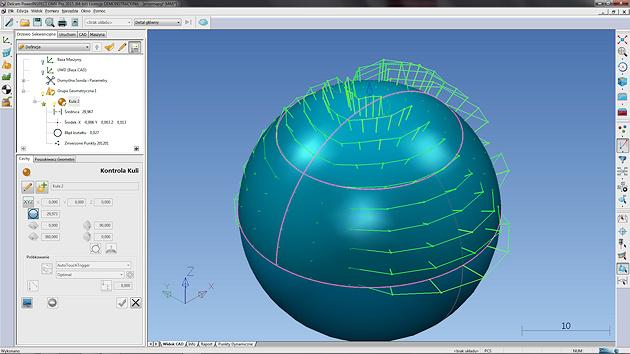 Pomiary - mapa błędów - za zgodą (c) Delcam Sp. z o.oPomiary - mapa błędów - za zgodą (c) Delcam Sp. z o.o..