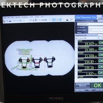 Kontrola techniczna - KEYENCE, pomiar obrazowy.