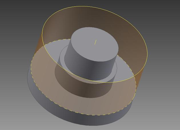 Ilustracja 1. Odkuwka - Uproszczone przedstawienie bryłowe części wraz z opisaną bryłą (walec).