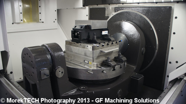Ilustracja 1. Zdjęcie obrabiarki HSM wykonane w centrum szkoleniowym GF Machining Solutions.