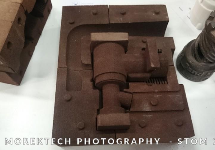 STOM 2016, Dni Druku 3D, Przykład wydruku 3D formy piaskowej dla odlewania.