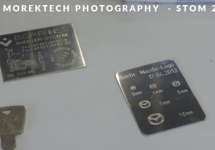STOM 2016, przykład cechowania płytek z wykorzystaniem technik zankowania m.in. firmy Borries.