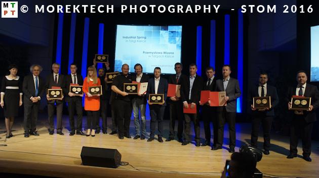Wszyscy nagrodzeni w ramach targów STOM 2016 i imprez towarzyszących.
