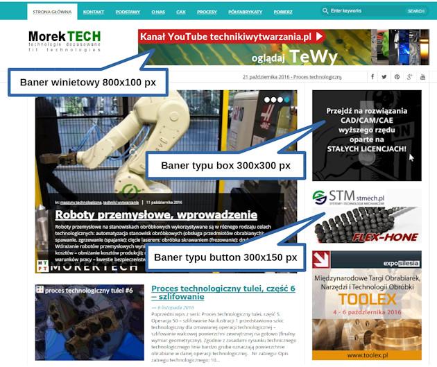 procestechnologiczny.com.pl - banery na stronie głównej