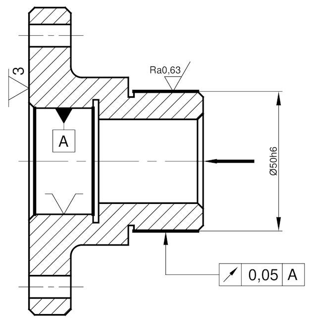 Ilustracja 1. Proces technologiczny tulei - operacja 50 - szlifowanie.