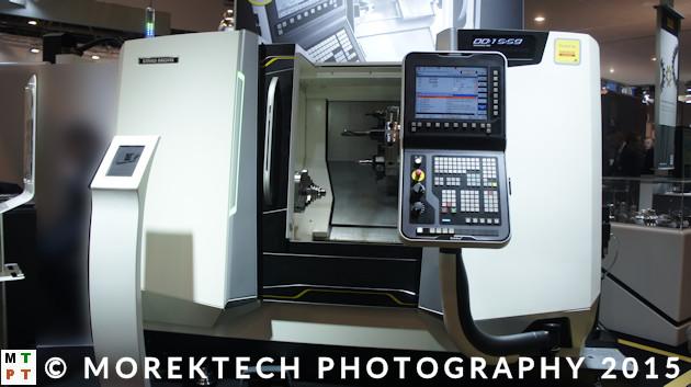 obrabiarki CNC - Ilustracja 2. Przykład tokarskiego centrum obróbkowego CNC firmy DMG MORI