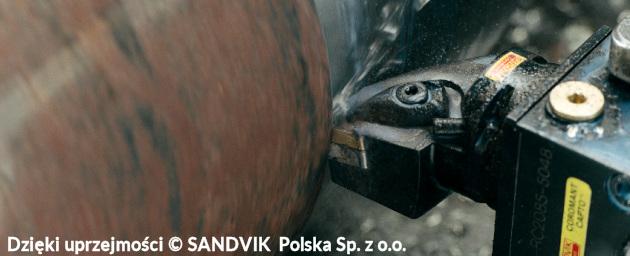 toczenie - Ilustracja 2a. Toczenie wzdłużne zgrubne - (c) SANDVIK Sp. z o.o.