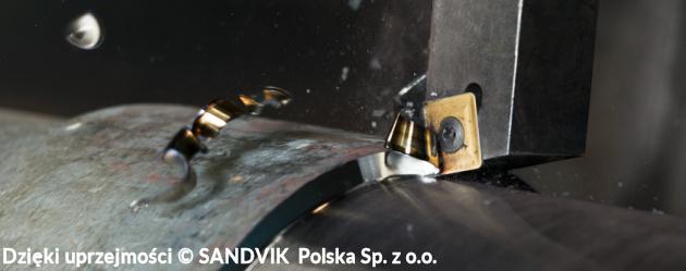 toczenie - Ilustracja 3. Toczenie wzdłużne - obróbka zgrubna - (c) SANDVIK Polska Sp. z o.o.