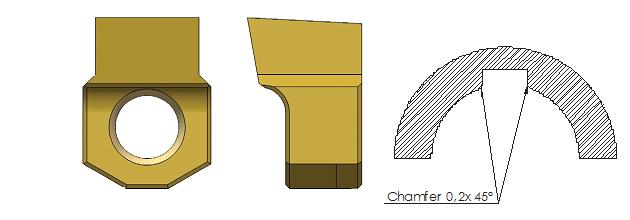 dłutowanie CNC - płytka skrawająca