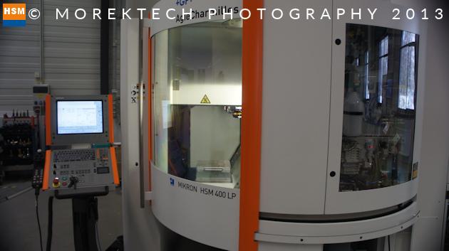 implanty - Ilustracja 1. GF Machining Solutions Mikron HSM 400LP - Firma Millhouse GmbH w 2013 roku używała zbliżonego modelu