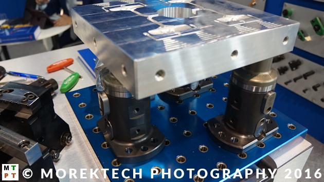 planowanie procesu technologicznego - Ilustracja 3. Przykład specjalistycznego oprzyrządowania technologicznego dedykowanego do 5-osiowej obróbki CNC.