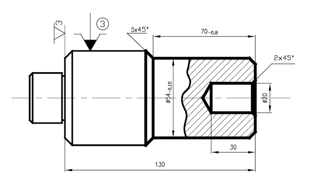 technologia wałków - proces technologiczny wału - operacja 10