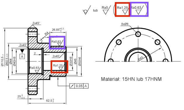 rysunek konstrukcyjny - proces technologiczny - czytanie