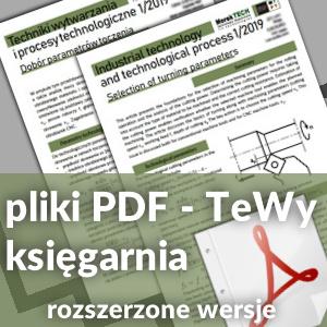 pliki PDF - księgarnia - TeWy - Techniki wytwarzania i procesy technologiczne
