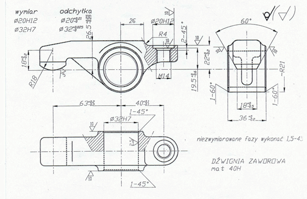 dźwignia - lever - proces technologiczny - technological process
