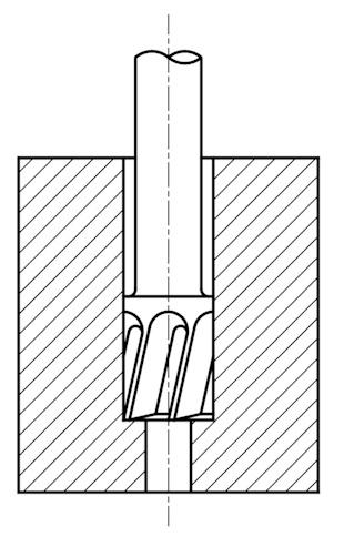 dźwignia - lever - proces technologiczny - technological process- wiercenie - drilling - gwintowanie - threading