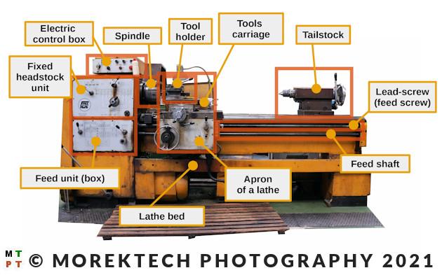 lathe - conventional - construction description