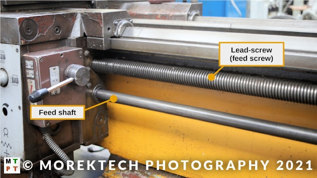 lathe - conventional - screw and lead shaft