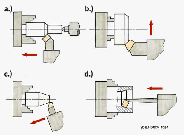 lathe - conventional - examples of machining