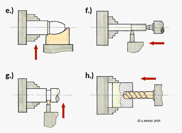 tokarka - konwencjonalna - przykłady obróbek