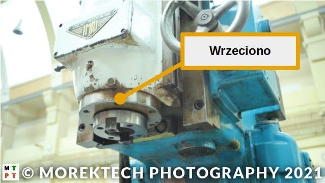 frezarka konwencjonalna wspornikowa pionowa - wrzeciono